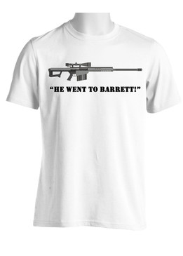"Moisture Wick Shirt featuring ""He Went to Barrett"" graphic"