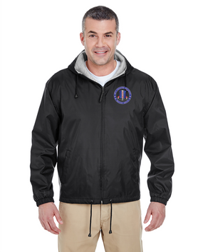 187th RCT Embroidered Fleece-Lined Hooded Jacket-Proud