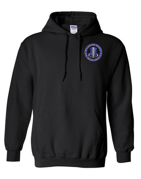 187th RCT  Embroidered Hooded Sweatshirt-Proud