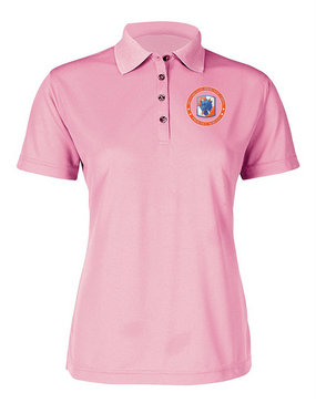 35th Signal Brigade Ladies Embroidered Moisture Wick Polo Shirt-Proud