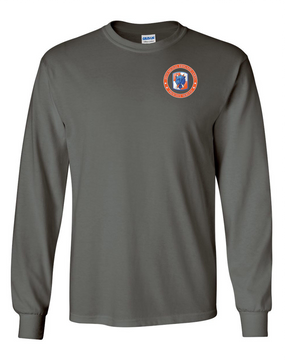 35th Signal Brigade Long-Sleeve Cotton T-Shirt-Proud