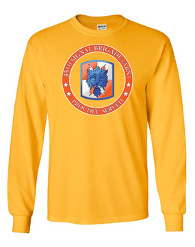 35th Signal Brigade Long-Sleeve Cotton T-Shirt-Proud (FF)