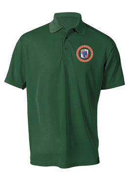 35th Signal Brigade Embroidered Moisture Wick Polo  Shirt-Proud