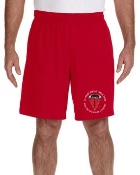 USASOC Embroidered Gym Shorts