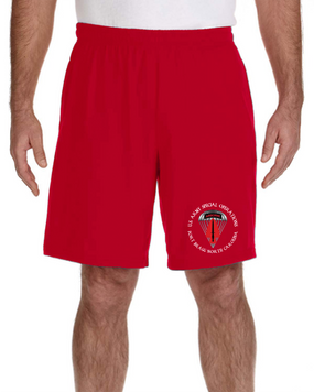 USASOC Embroidered Gym Shorts