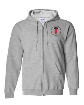 USASOC Embroidered Hooded Sweatshirt with Zipper