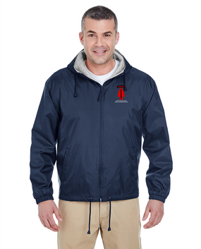 USASOC Embroidered Fleece-Lined Hooded Jacket (L)