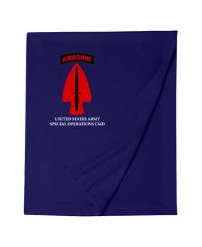 USASOC Embroidered Dryblend Stadium Blanket  (L)