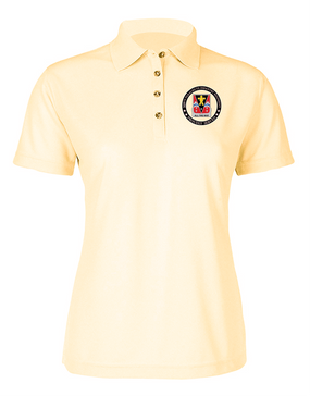 "509th ""Crest""  Ladies Embroidered Moisture Wick Polo Shirt"
