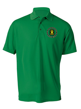"509th ""Gingerbread"" Embroidered Moisture Wick Polo  Shirt"