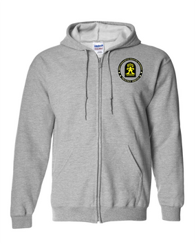 """509th """"Gingerbread""""  Embroidered Hooded Sweatshirt with Zipper"""