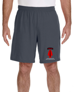USASOC Embroidered Gym Shorts (L)