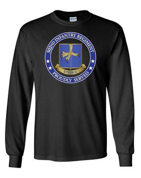 502nd Parachute Infantry Regiment Long-Sleeve Cotton Shirt-Proud (FF)