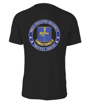 502nd Parachute Infantry Regiment Cotton T-Shirt-Proud (FF)