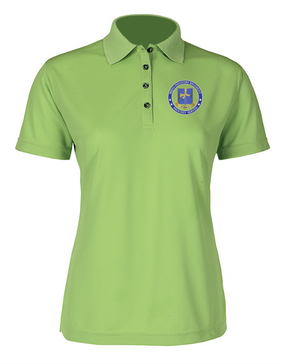 Ladies 502nd Parachute Infantry Regiment Embroidered Moisture Wick Polo Shirt-Proud