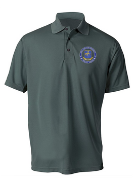 502nd Parachute  Infantry Regiment Embroidered Moisture Wick Polo-Proud