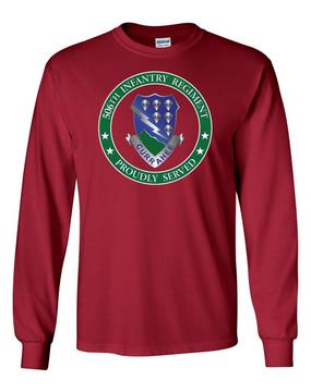 506th Parachute Infantry Regiment Long-Sleeve Cotton Shirt-Proud  (FF)