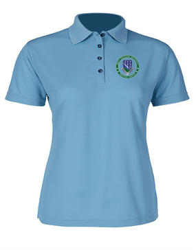 Ladies 506th Parachute Infantry Regiment Embroidered Moisture Wick Polo Shirt-Proud