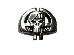82nd Airborne Division Sterling Silver Punisher Ring