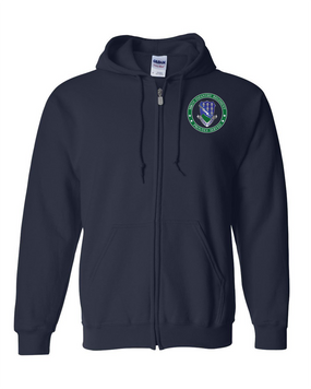 506th Infantry Regiment Embroidered Hooded Sweatshirt with Zipper-Proud
