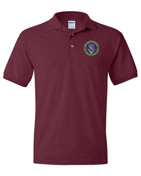 506th Parachute Infantry Regiment Embroidered Cotton Polo Shirt -Proud