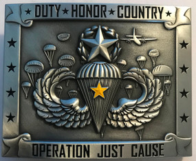 "Operation Just Cause ""Master"" Belt Buckle"