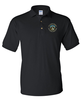 7th Cavalry Regiment Embroidered Cotton Polo Shirt-Proud