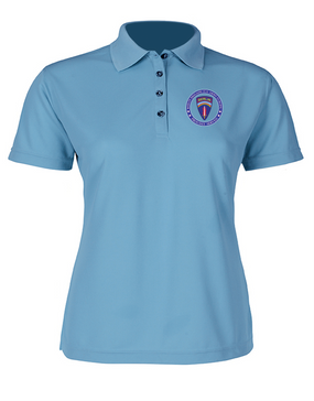 Berlin Brigade Ladies Embroidered Moisture Wick Polo Shirt-Proud