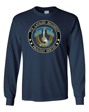 7th Cavalry Regiment Long-Sleeve Cotton Shirt  -Proud  (FF)