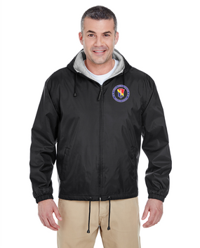 I Field Force Embroidered Fleece-Lined Hooded Jacket -Proud