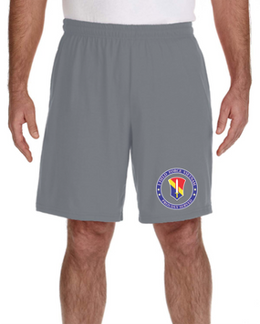 I Field Force Embroidered Gym Shorts-Proud