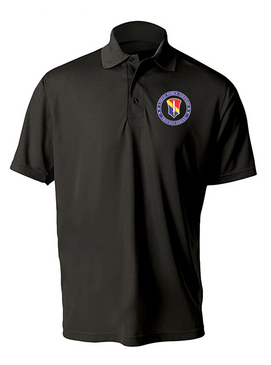 I Field Force Embroidered Moisture Wick Polo Shirt-Proud