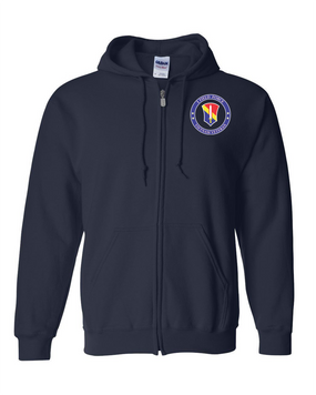 I Field Force Embroidered Hooded Sweatshirt with Zipper-Proud VN