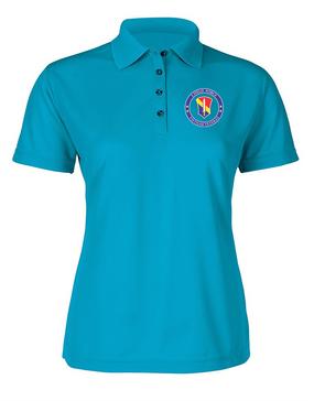 I Field Force Vietnam Veteran Ladies Embroidered Moisture Wick Polo Shirt-Proud