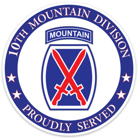 10th Mountain Division  Vinyl Cut Decal