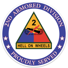 2nd Armored Division  Vinyl Cut Decal