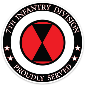 7th Infantry Division  Vinyl Cut Decal