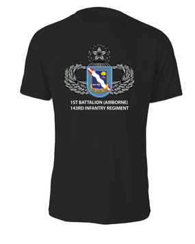 1st Battalion (Airborne) 143rd Infantry Regiment Cotton T-Shirt  (FF)