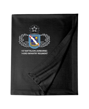 1st Battalion (Airborne) 143rd Infantry Regiment Embroidered Dryblend Stadium Blanket