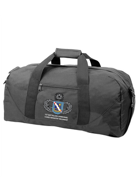 1st Battalion (Airborne) 143rd Infantry Regiment Embroidered Duffel Bag
