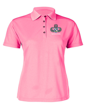 1st Battalion (Airborne) 143rd Infantry Regiment Ladies Embroidered Moisture Wick Polo Shirt