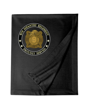 "9th Infantry Regiment ""MANCHUS"" Embroidered Dryblend Stadium Blanket"