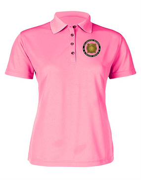 """9th Infantry Regiment """"Manchus""""  Ladies Embroidered Moisture Wick Polo Shirt  -Proud"""