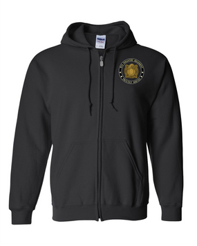 "9th Infantry Regiment ""MANCHUS"" Embroidered Hooded Sweatshirt with Zipper-Proud"