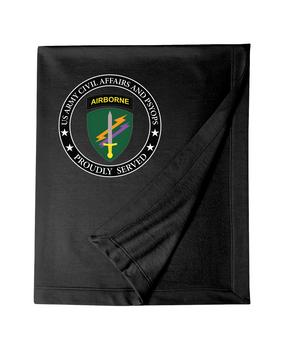 U.S. Army Civil Affairs Embroidered Dryblend Stadium Blanket-Proud