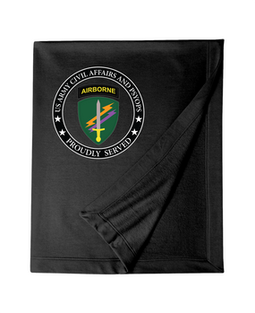 U.S. Army Civil Affairs Embroidered Dryblend Stadium Blanket-Proud
