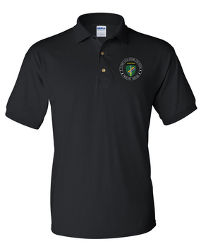 US Army Civil Affairs Embroidered Cotton Polo Shirt-Proud