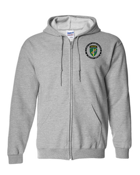 US Army Civil Affairs Embroidered Hooded Sweatshirt with Zipper-Proud