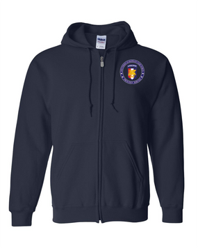 Southern European Task Force SETAF Embroidered Hooded Sweatshirt with Zipper-Proud