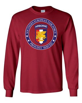 Southern European Task Force SETAF Long-Sleeve Cotton T-Shirt -Proud  (FF)